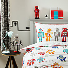 Buy little home at John Lewis Robots Duvet Cover and Pillowcase Set, Single Online at johnlewis.com