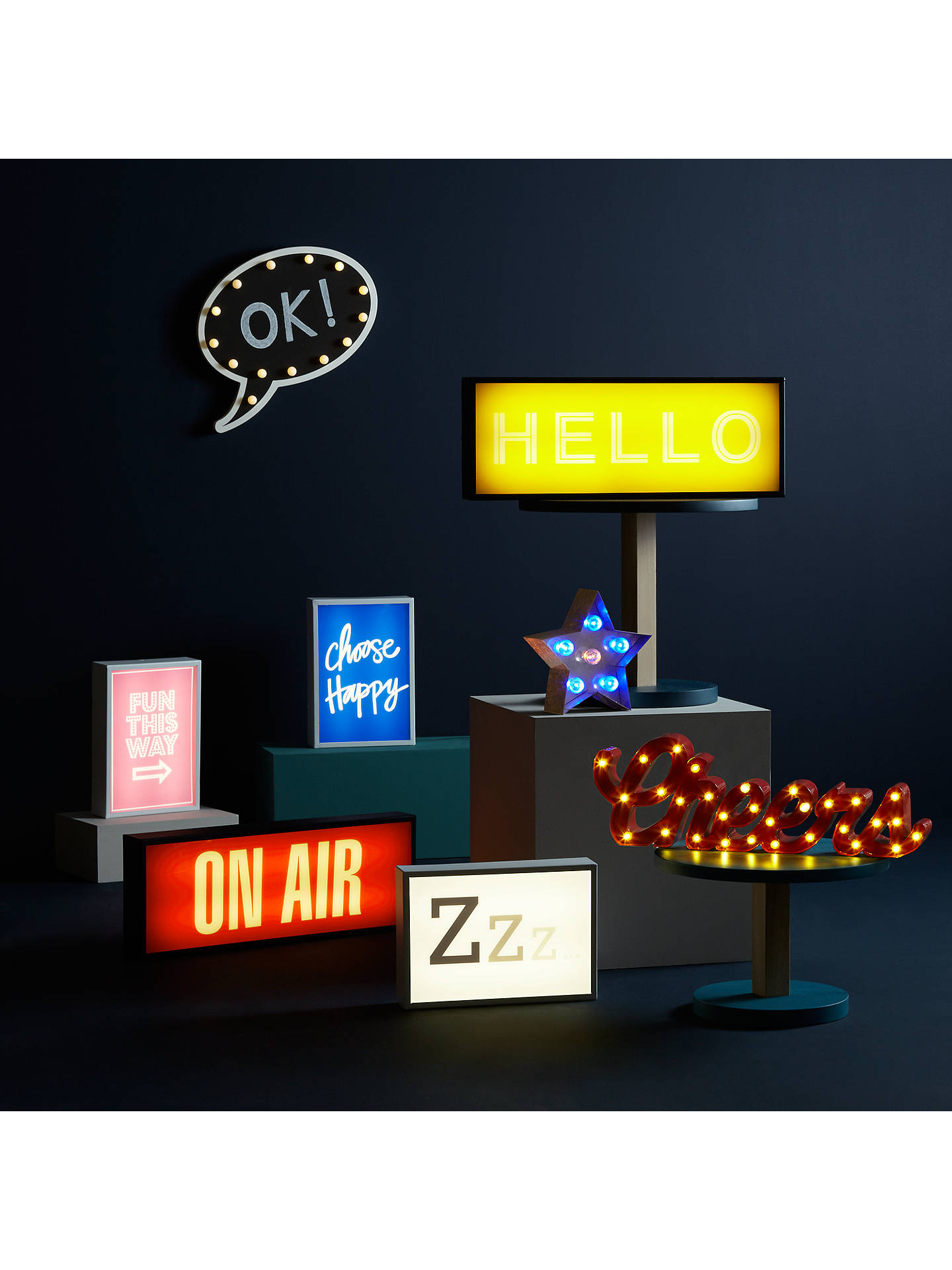 BuyJohn Lewis Fun This Way Small LED Light Box, Pink Online at johnlewis.com
