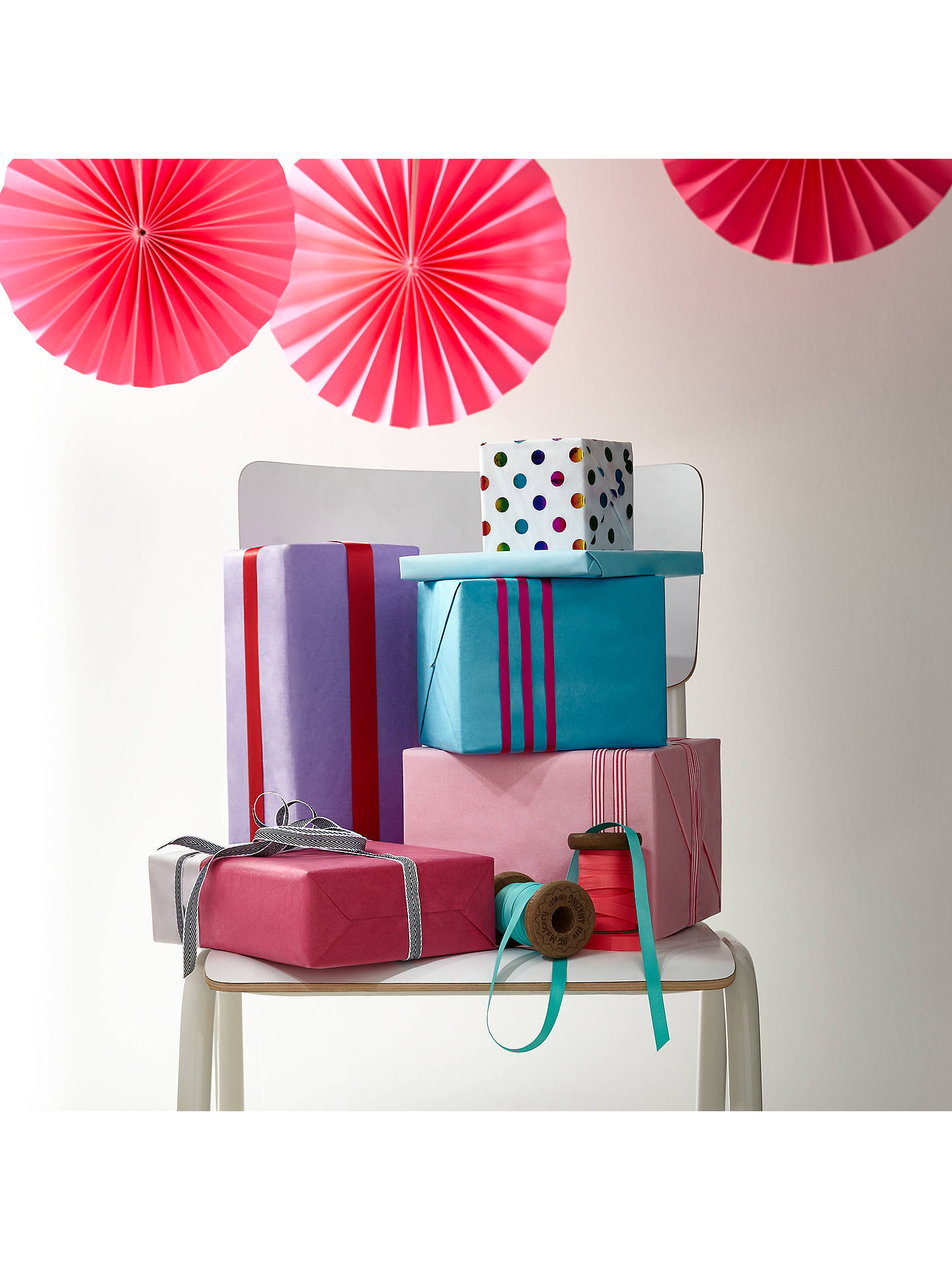 Buy John Lewis Tribbon Gift Ribbon, Pack of 3, Peppermint Online at johnlewis.com