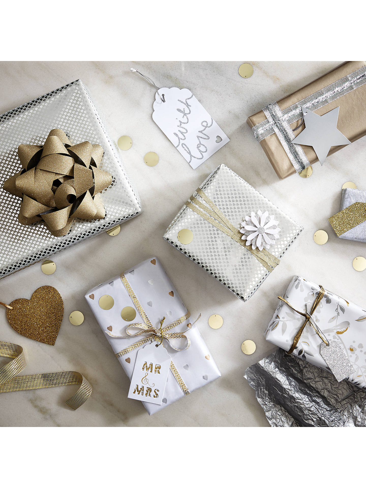 Buy John Lewis & Partners Silver Foil Gift Tags, Pack of 10 Online at johnlewis.com