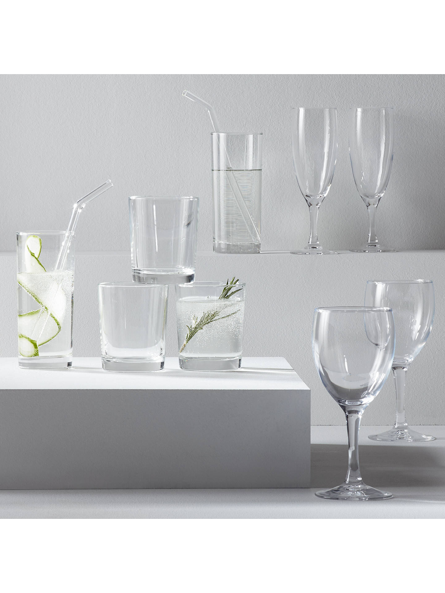 Buy John Lewis & Partners The Basics Champagne Flutes, Set of 4 Online at johnlewis.com