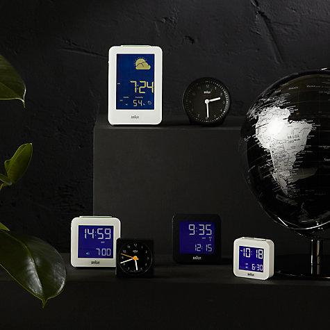 buy braun radio controlled global alarm clock black john lewis. Black Bedroom Furniture Sets. Home Design Ideas