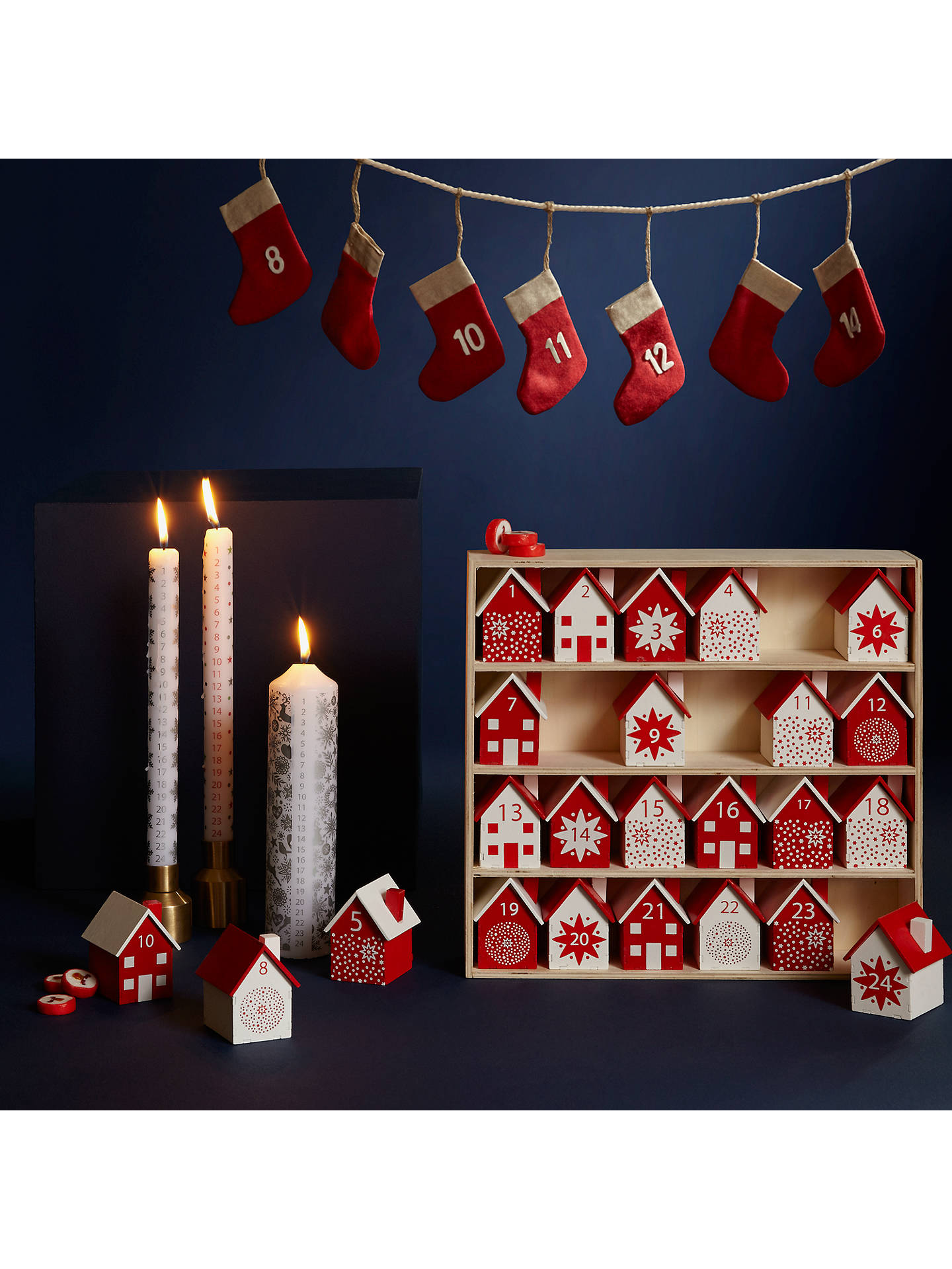 Amazing John Lewis Wooden Houses Advent Calendar Red White At Download Free Architecture Designs Scobabritishbridgeorg