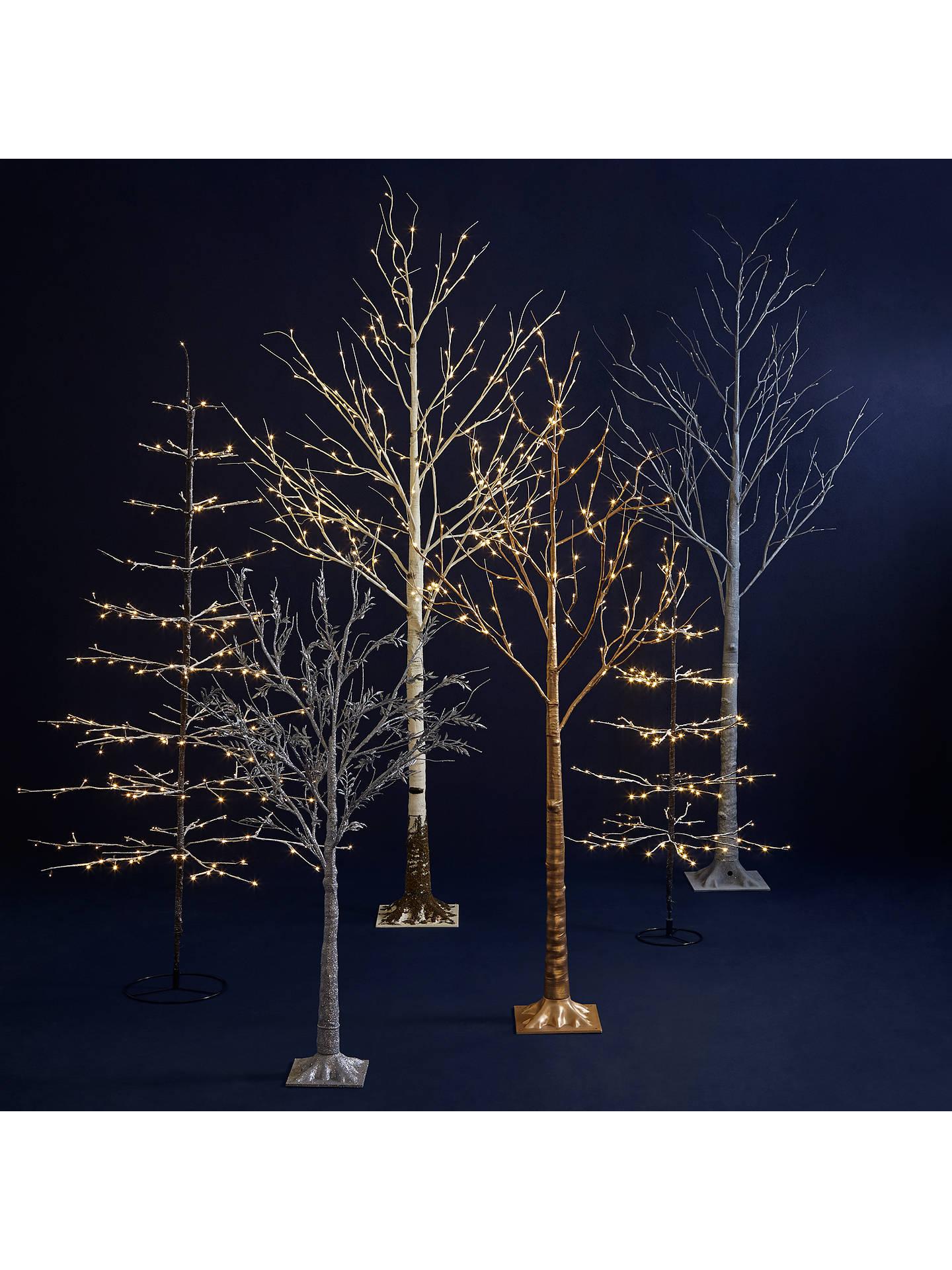 new product feb5d ee7de John Lewis 6ft Pre-Lit Snowy Twig Christmas Tree, White