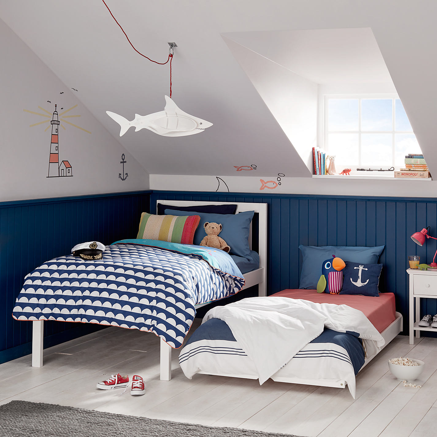 John lewis childrens bedroom furniture -  Buy John Lewis Wilton Child Compliant Trundle Guest Bed With Open Spring Mattresses Single Online