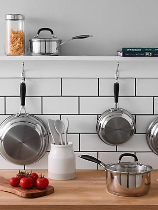 John Lewis & Partners 'The Pan' Stainless Steel Cookware