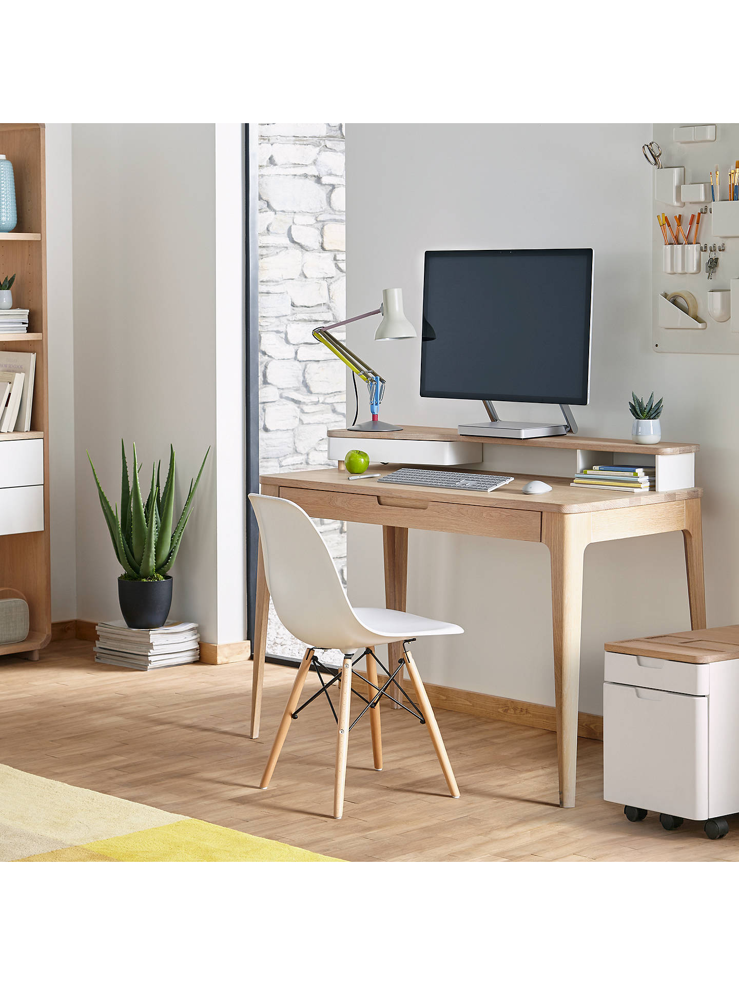 Buy Ebbe Gehl for John Lewis Mira Filing Cabinet, White/Oak Online at johnlewis.com