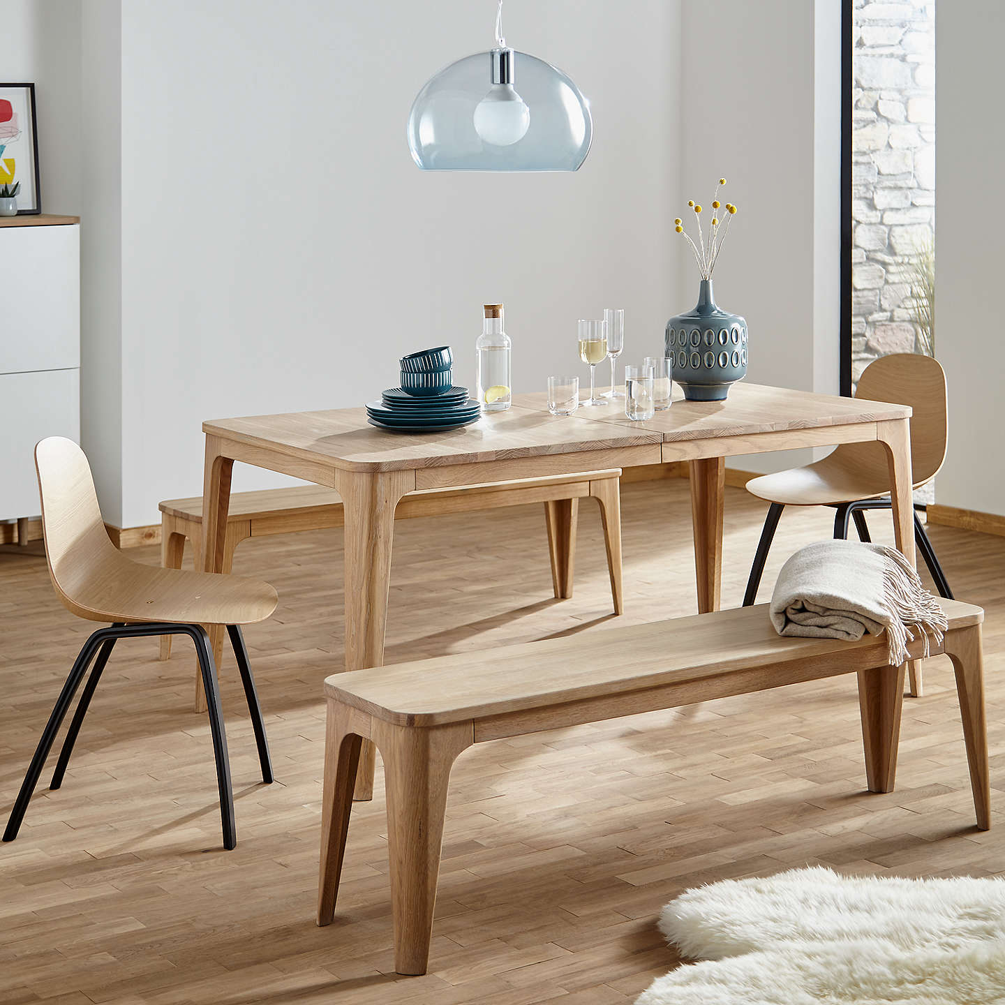 BuyEbbe Gehl For John Lewis Mira 6 8 Seater Extending Dining Table Oak Online