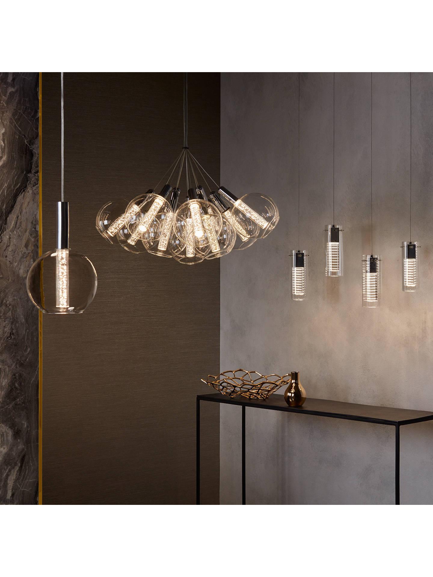 John Lewis Partners Orson Led Bubble 12 Pendant Cer Ceiling Light