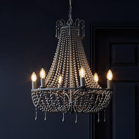 Buy john lewis marilyn beaded paris chandelier grey john lewis buy john lewis marilyn beaded paris chandelier grey online at johnlewis aloadofball Gallery