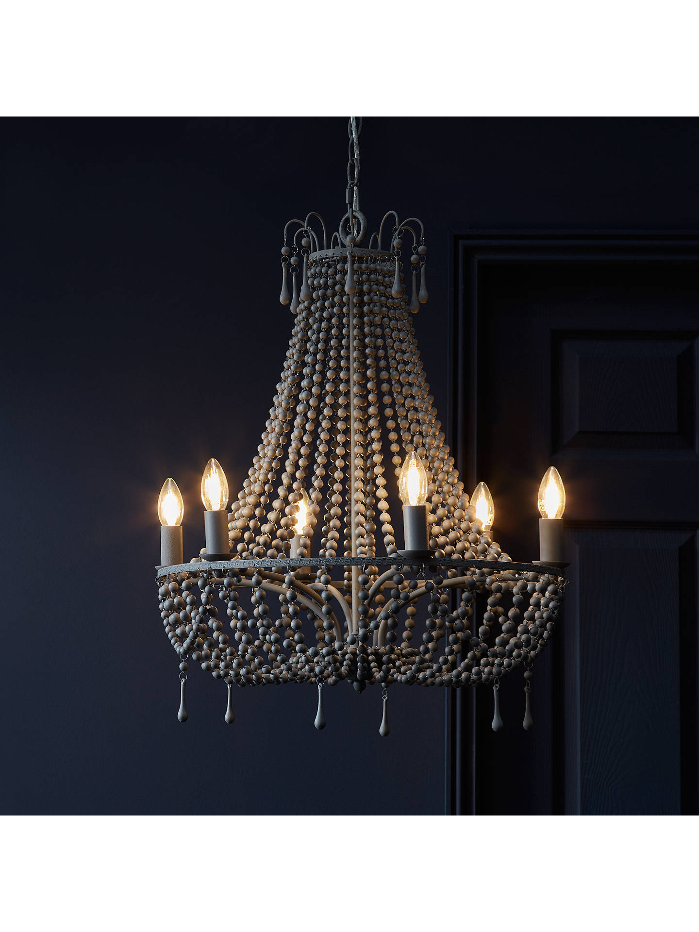 BuyJohn Lewis & Partners Marilyn Beaded Paris Chandelier, Grey Online at johnlewis.com
