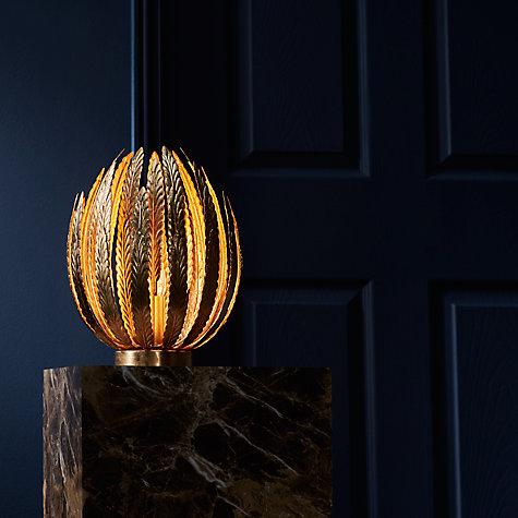 V Pro Dimmer >> Buy John Lewis Montserrat Leaf Gold Table Lamp   John Lewis