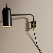 Buy Design Project by John Lewis No.045 LED Wall Light, Black Online at johnlewis.com