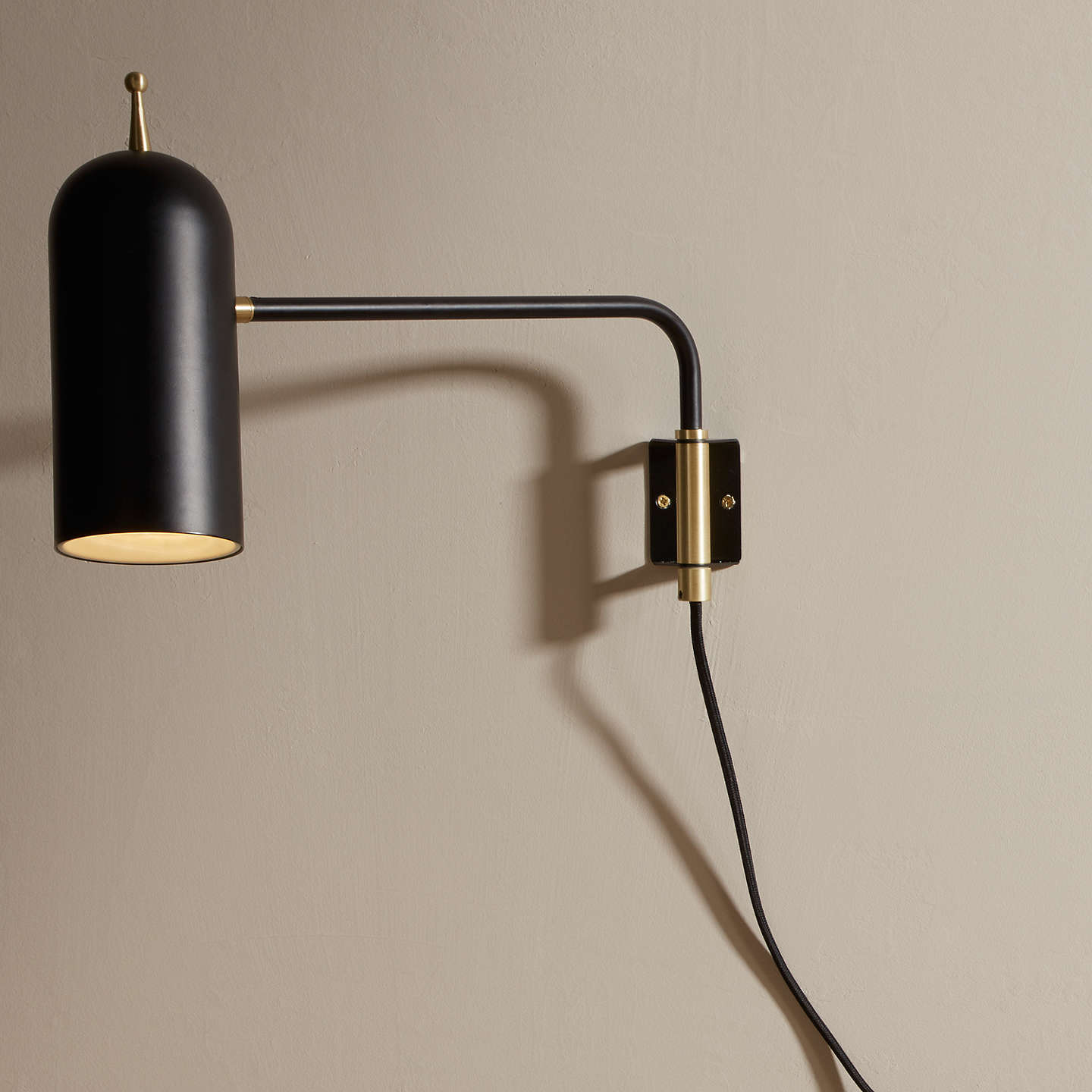 Design project by john lewis no045 led wall light black at john lewis buydesign project by john lewis no045 led wall light black online at johnlewis aloadofball Choice Image