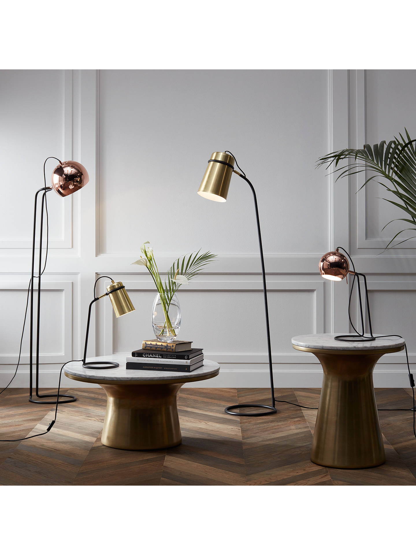 Buy John Lewis & Partners Isaac Ball Task Light, Copper Online at johnlewis.com