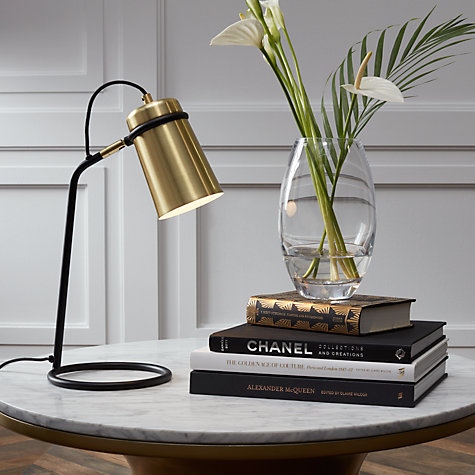 Buy John Lewis Keegan Task Lamp, Satin Brass Online at johnlewis.com