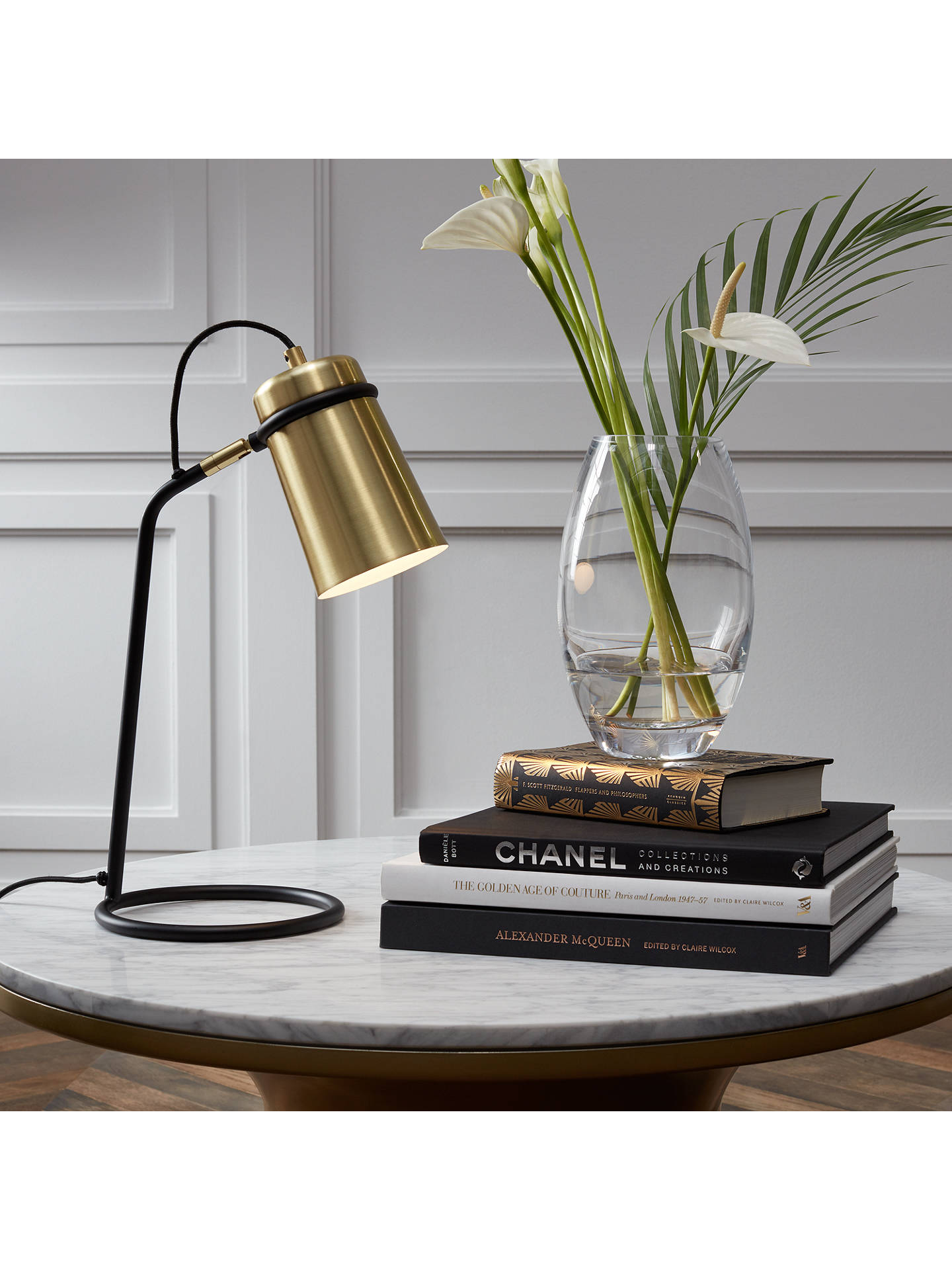 BuyJohn Lewis & Partners Keegan Task Lamp, Satin Brass Online at johnlewis.com