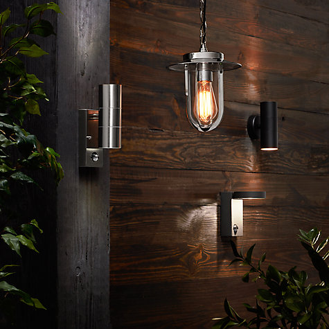 Buy Nordlux Luxembourg Outdoor Wall Light with PIR Sensor, Galvanised Steel Online at johnlewis.com