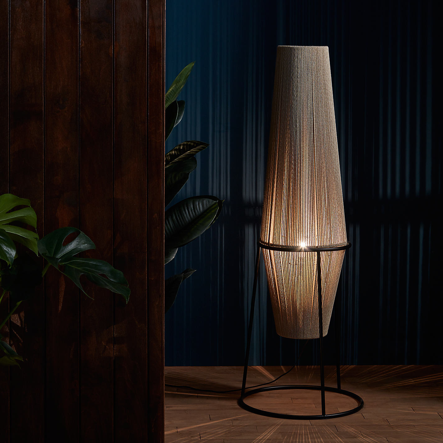 Buy John Lewis Truman String Floor Lamp. Natural / Black | John Lewis for String Floor Lamp  53kxo
