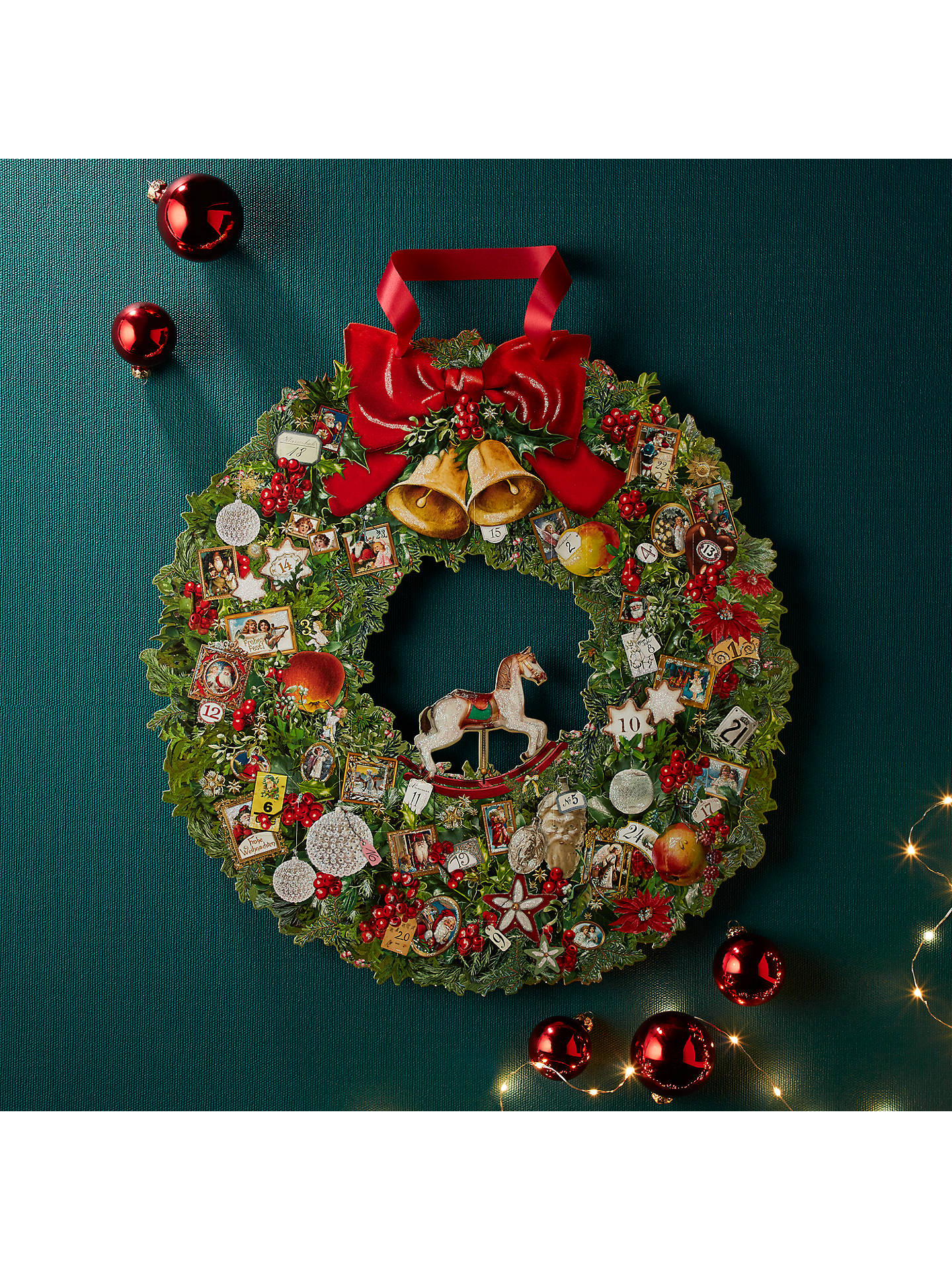 buycoppenrath victorian christmas wreath large advent calendar online at johnlewiscom