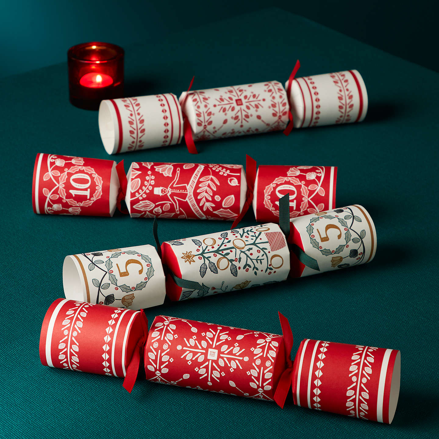 John lewis folklore snowflake fill your own christmas crackers pack buyjohn lewis folklore snowflake fill your own christmas crackers pack of 6 red solutioingenieria