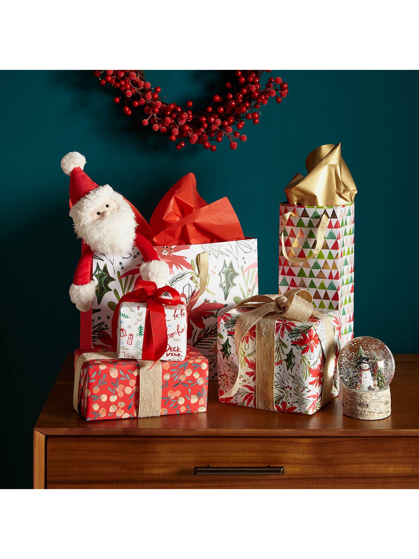 Kelly Ventura Poinsettia Gift Wrap, W70cm x Roll Length 300cm at ...