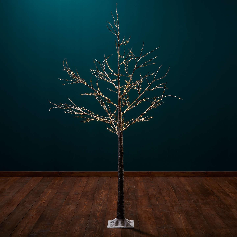 Outside Christmas Lights John Lewis: John Lewis Pre-Lit Birch Twig Tree, Copper, 6ft At John Lewis