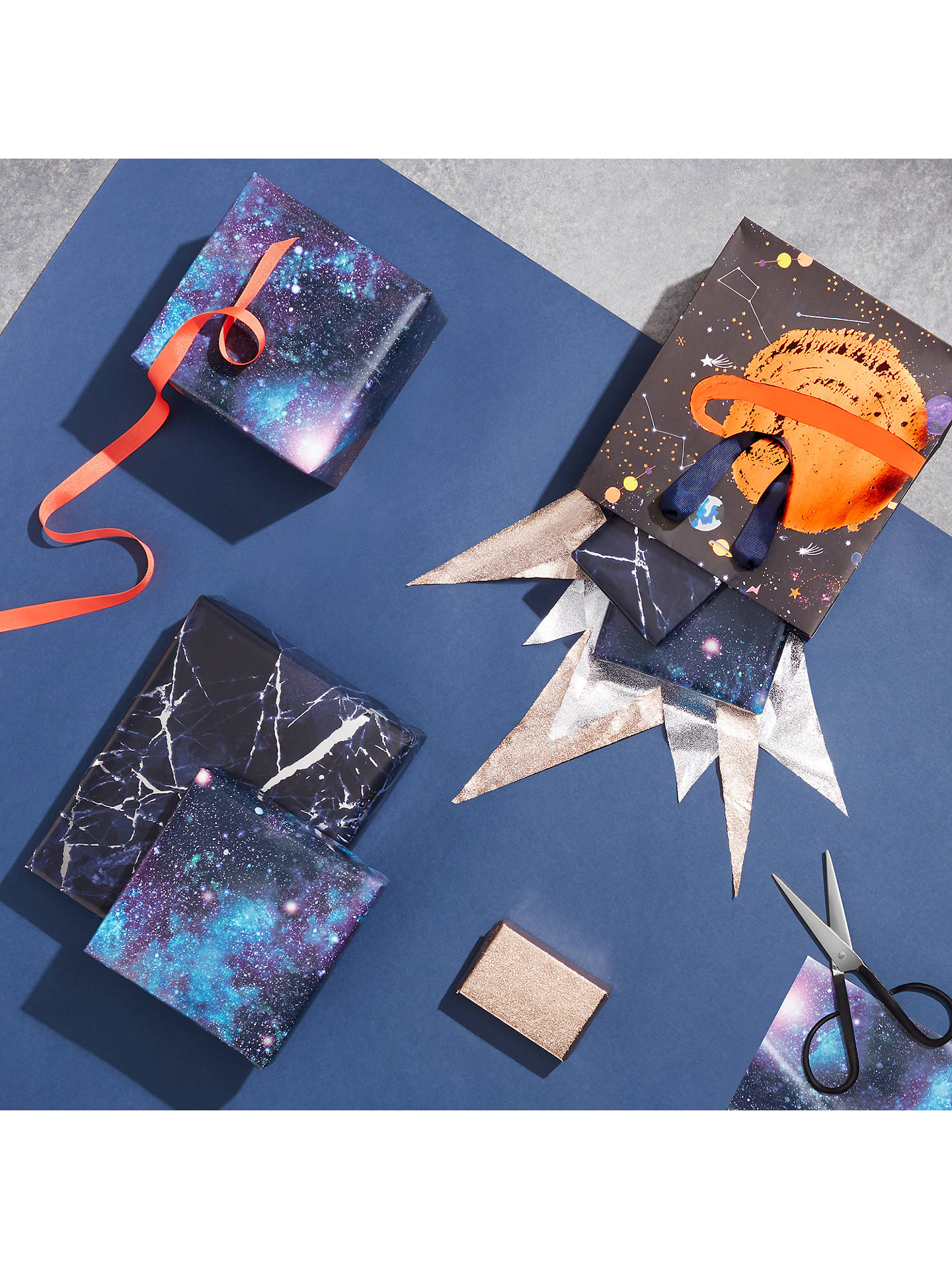 Buy John Lewis & Partners Cosmic Scene Gift Wrap, 3m Online at johnlewis.com
