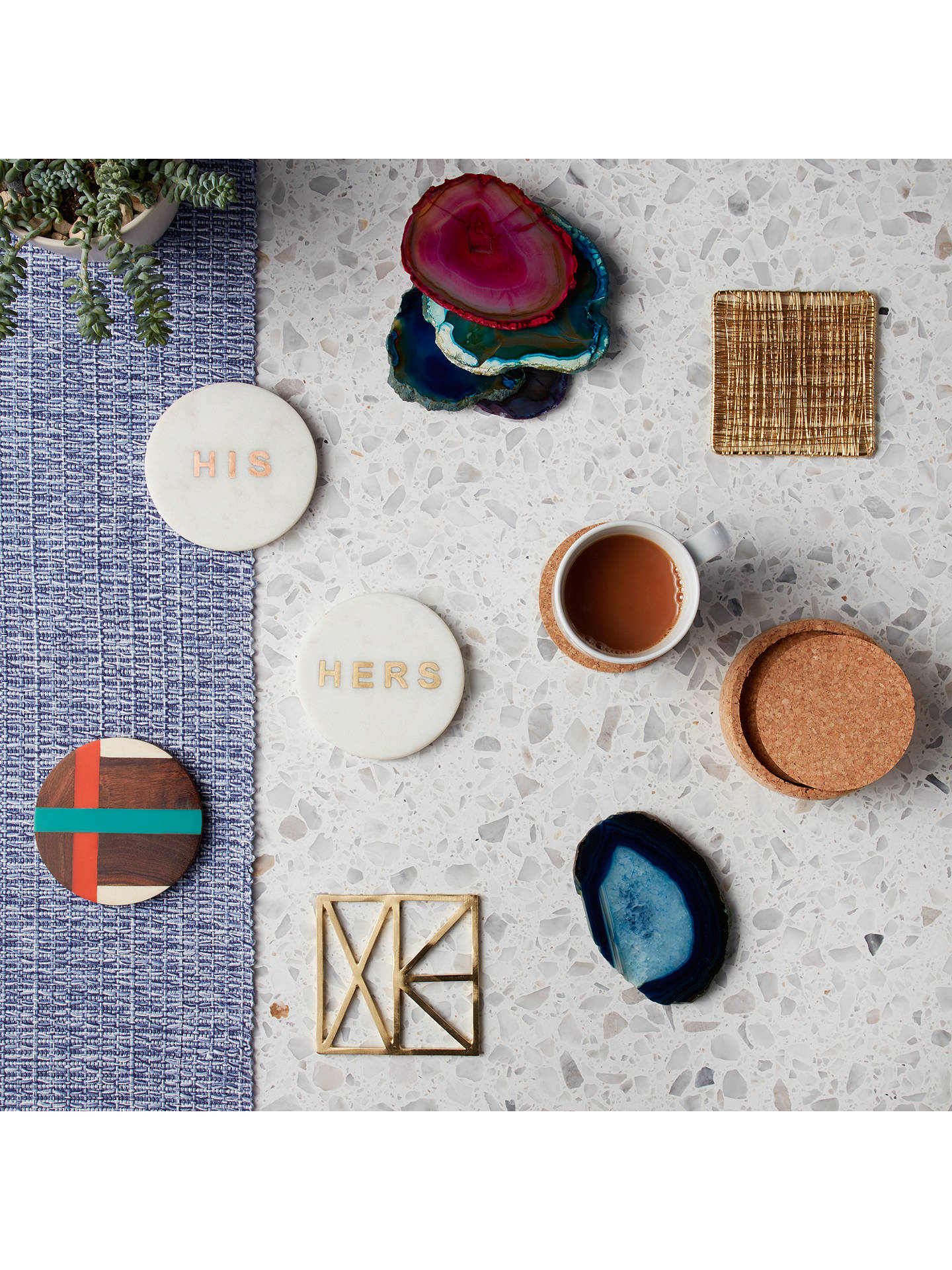 BuyJohn Lewis & Partners 'His' Marble Coaster Online at johnlewis.com