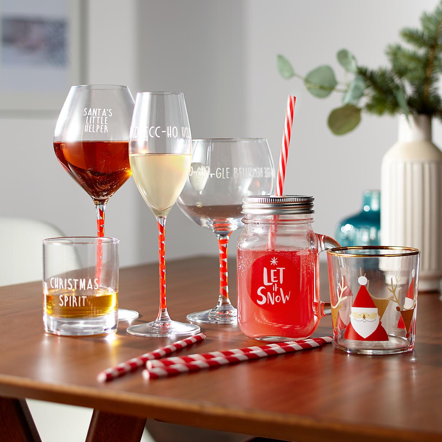 Novelty Christmas Tableware John Lewis & John Lewis Wine Glasses - Home Safe