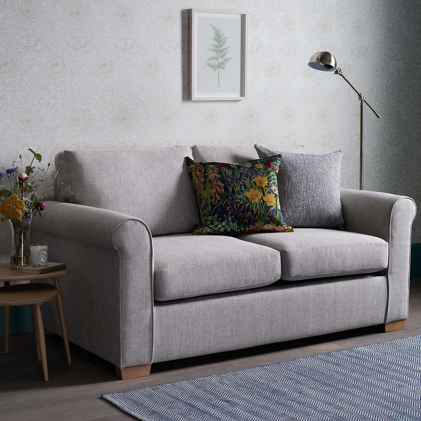 ... BuyJohn Lewis Malone 2 Seater Small Sofa Bed With Pocket Sprung  Mattress, Stanton French Grey