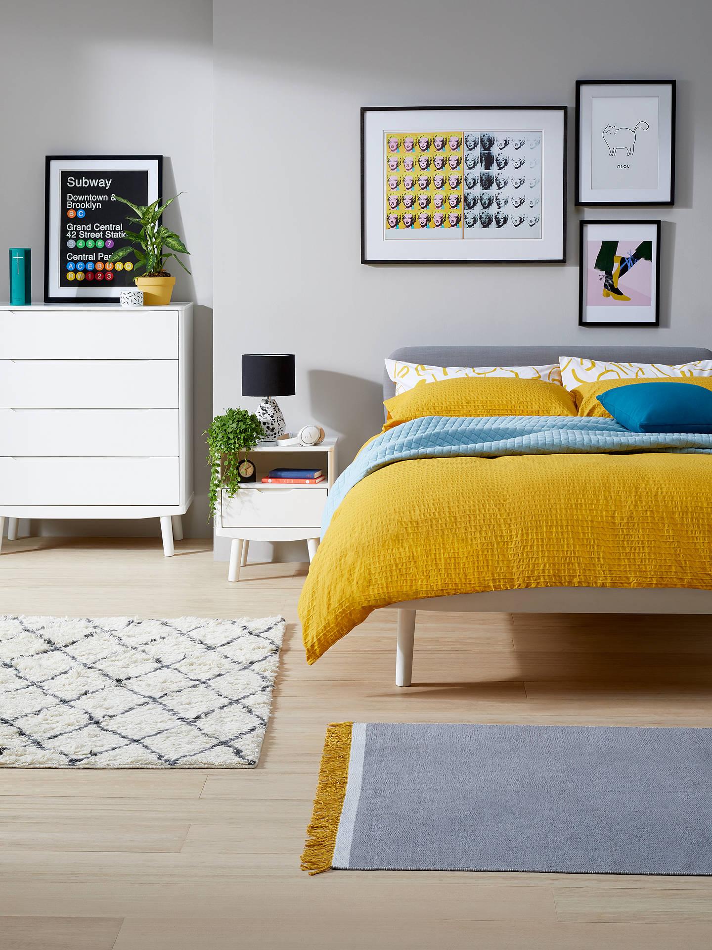 house by john lewis bow upholstered headboard bed frame. Black Bedroom Furniture Sets. Home Design Ideas