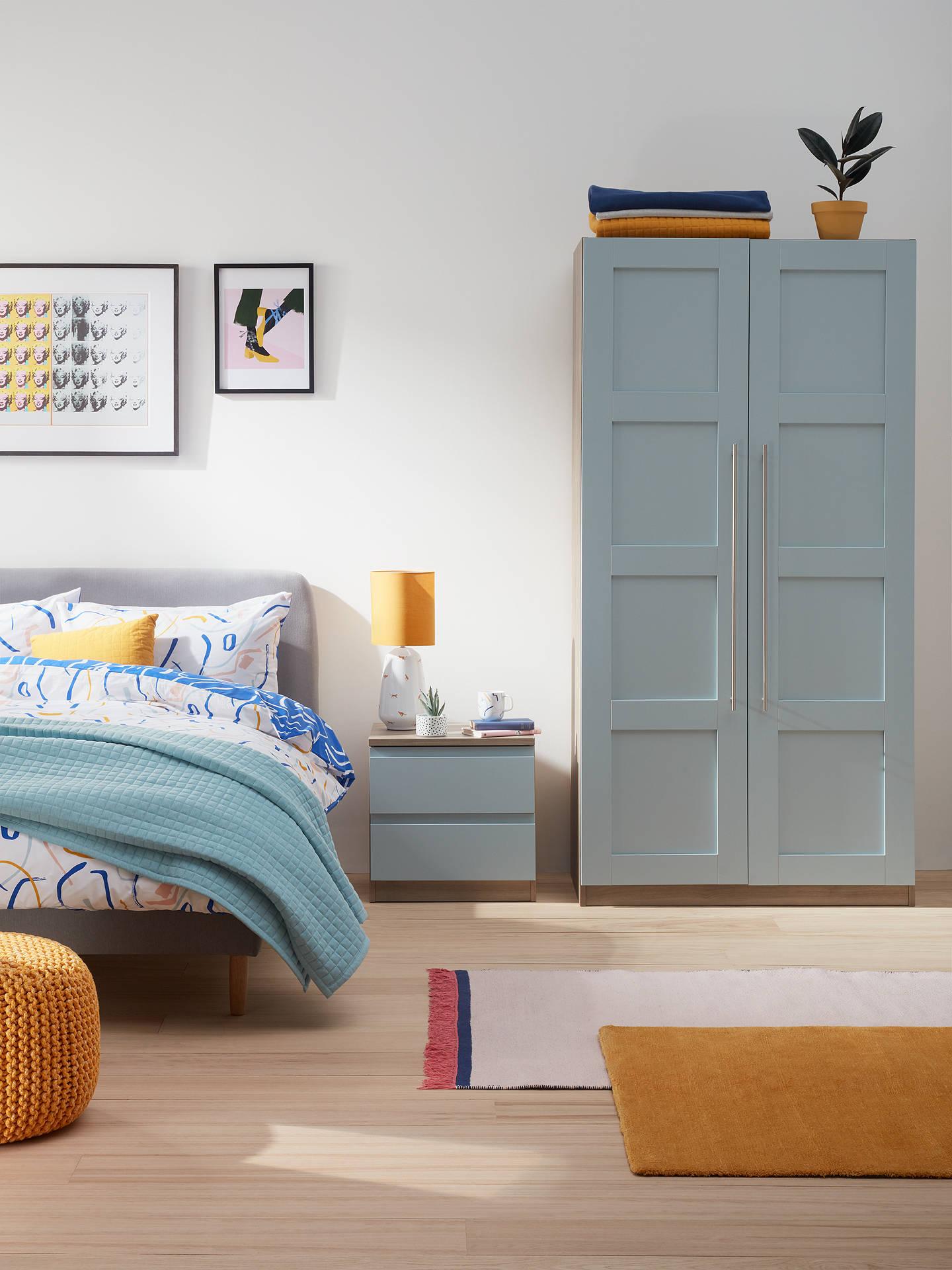 house by john lewis mix it 2 drawer bedside chest matt. Black Bedroom Furniture Sets. Home Design Ideas