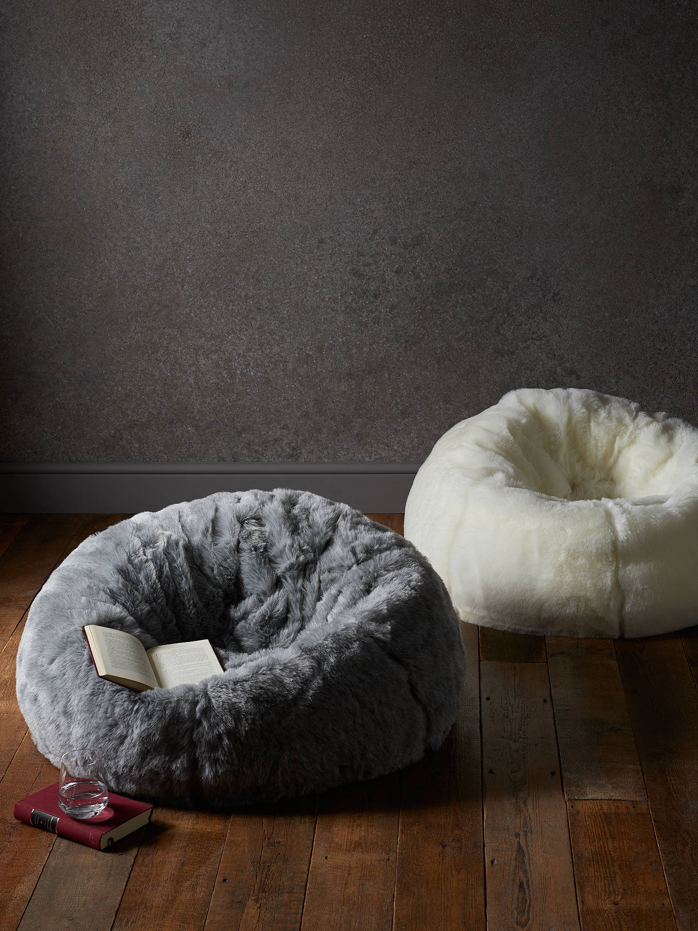 Faux Fur Extra Large Bean Bag