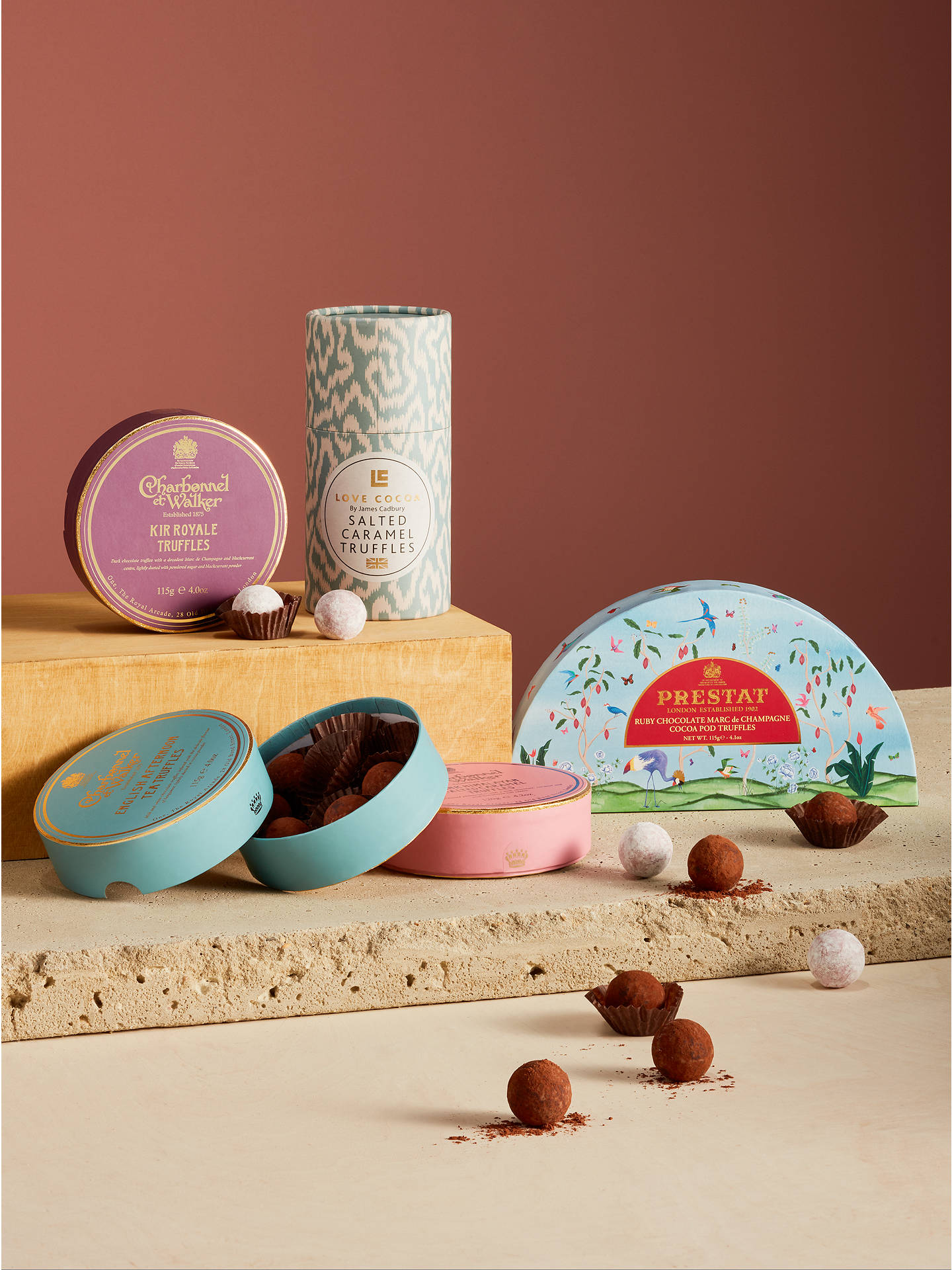 Buy Prestat Ruby Marc De Champagne Truffles, 115g Online at johnlewis.com