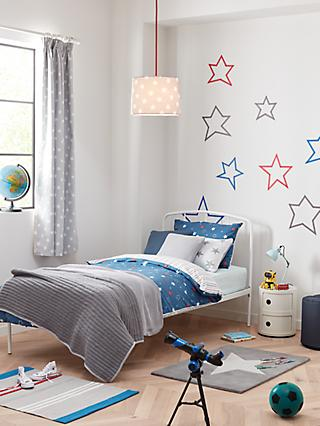 1eb67559ae18 little home at John Lewis Galaxy Star Reversible Duvet Cover and Pillowcase  Set, Single,