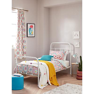 little home at John Lewis Sahara Reversible Duvet Cover and Pillowcase Set, Single, Multi