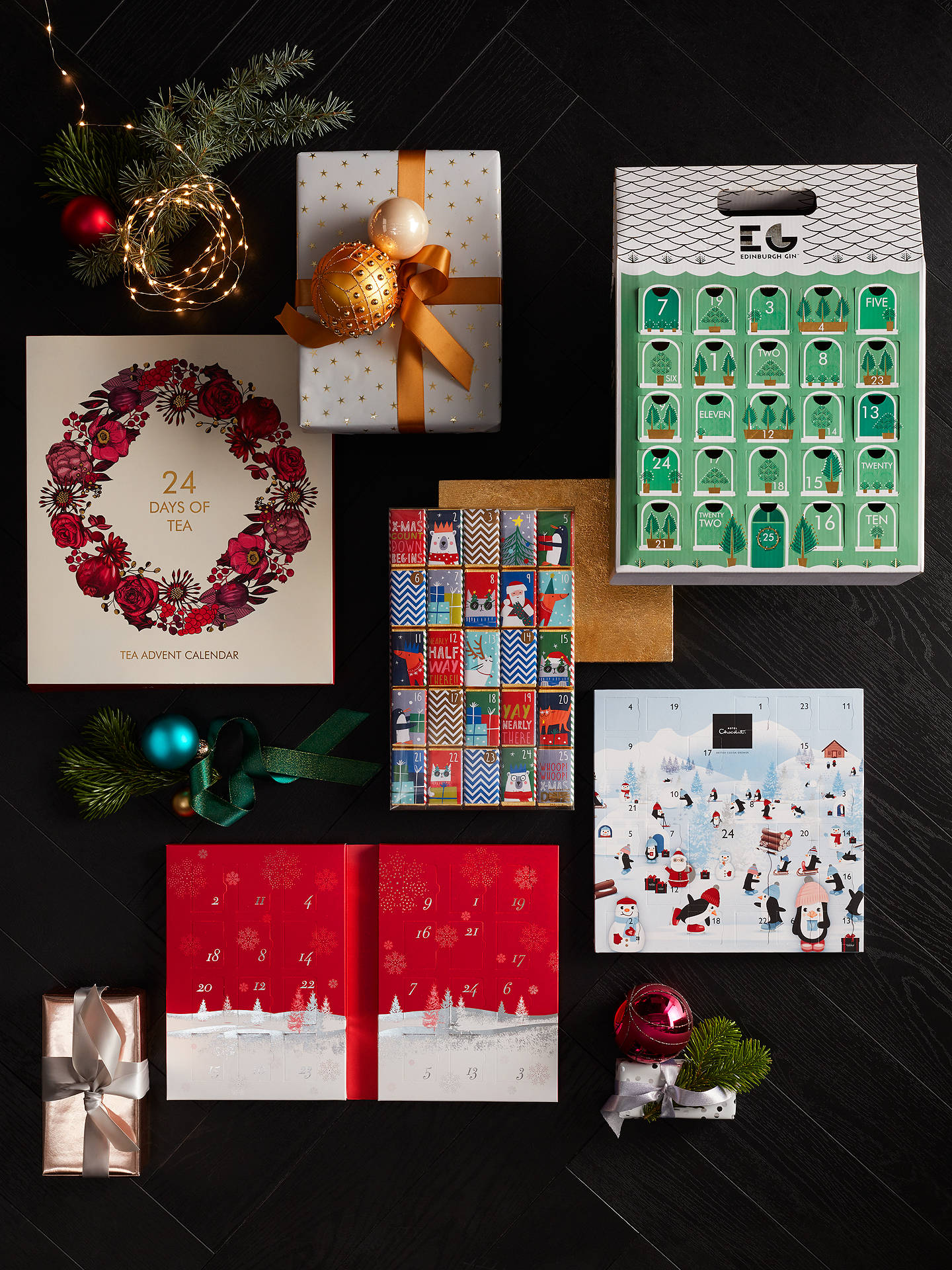 BuyEdinburgh Gin Advent Calendar, 25x 5cl Online at johnlewis.com