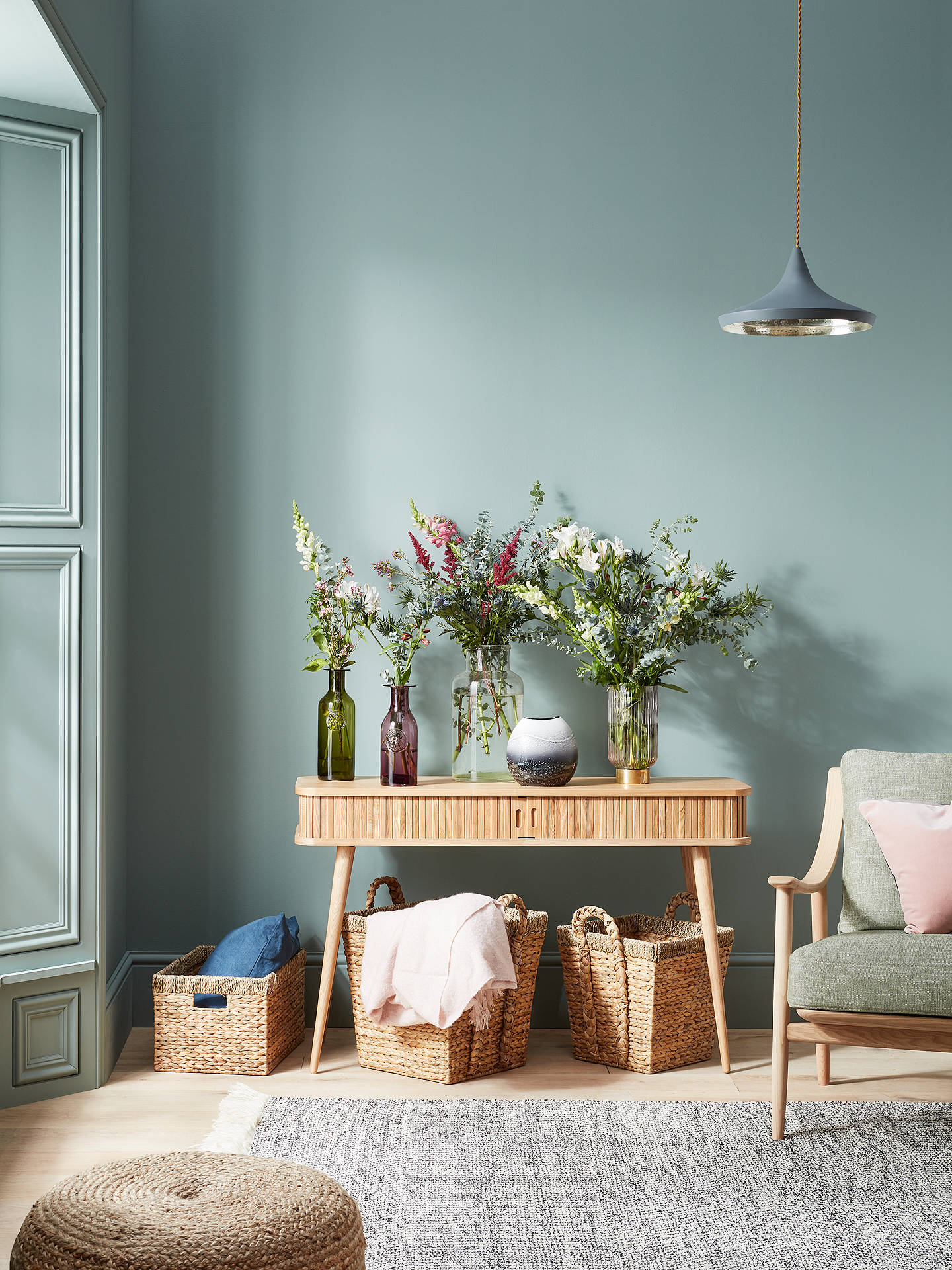 BuyJohn Lewis & Partners Country Water Hyacinth Storage Basket, Rectangular Online at johnlewis.com