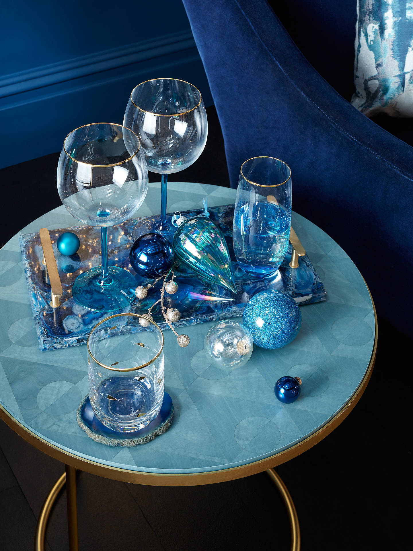 Buy John Lewis & Partners Gin Glass, 570ml, Blue Online at johnlewis.com