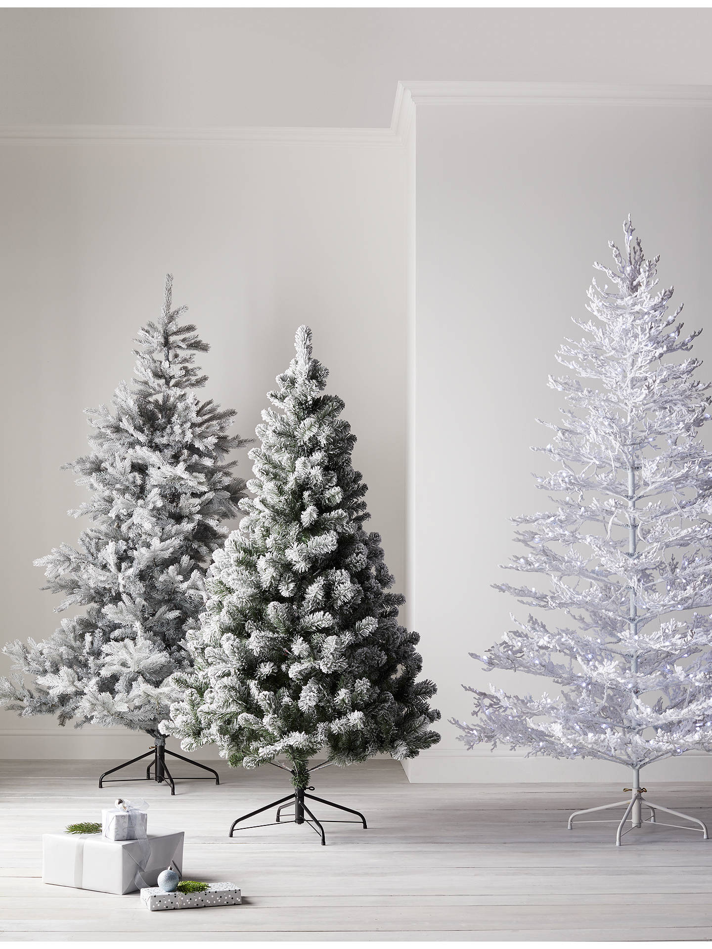 buyjohn lewis partners sapphire snow queen pre lit christmas tree 7ft online at