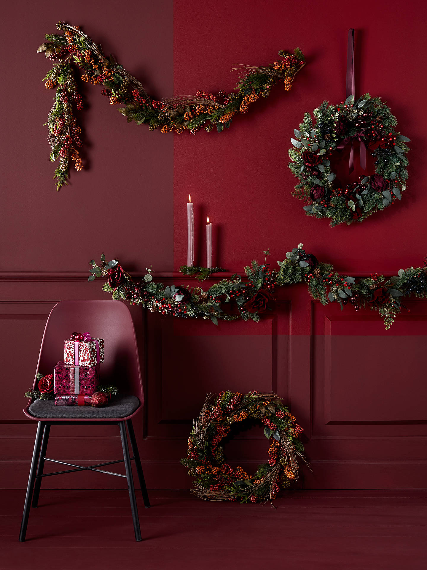 BuyJohn Lewis & Partners Ruby Fruits and Floral Garland Online at johnlewis.com