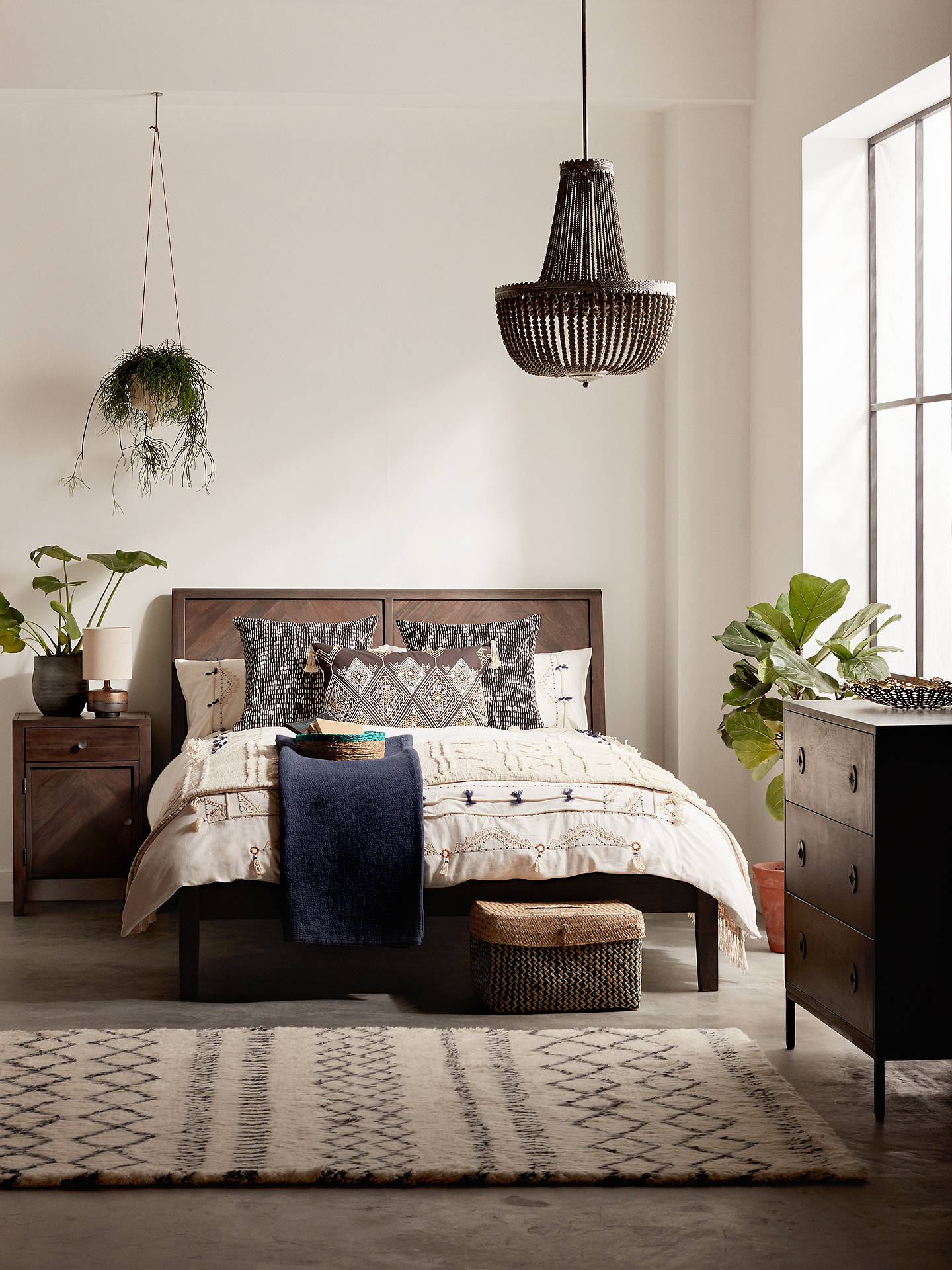 Buy John Lewis & Partners Padma Parquet Bed Frame, Double, Grey Online at johnlewis.com