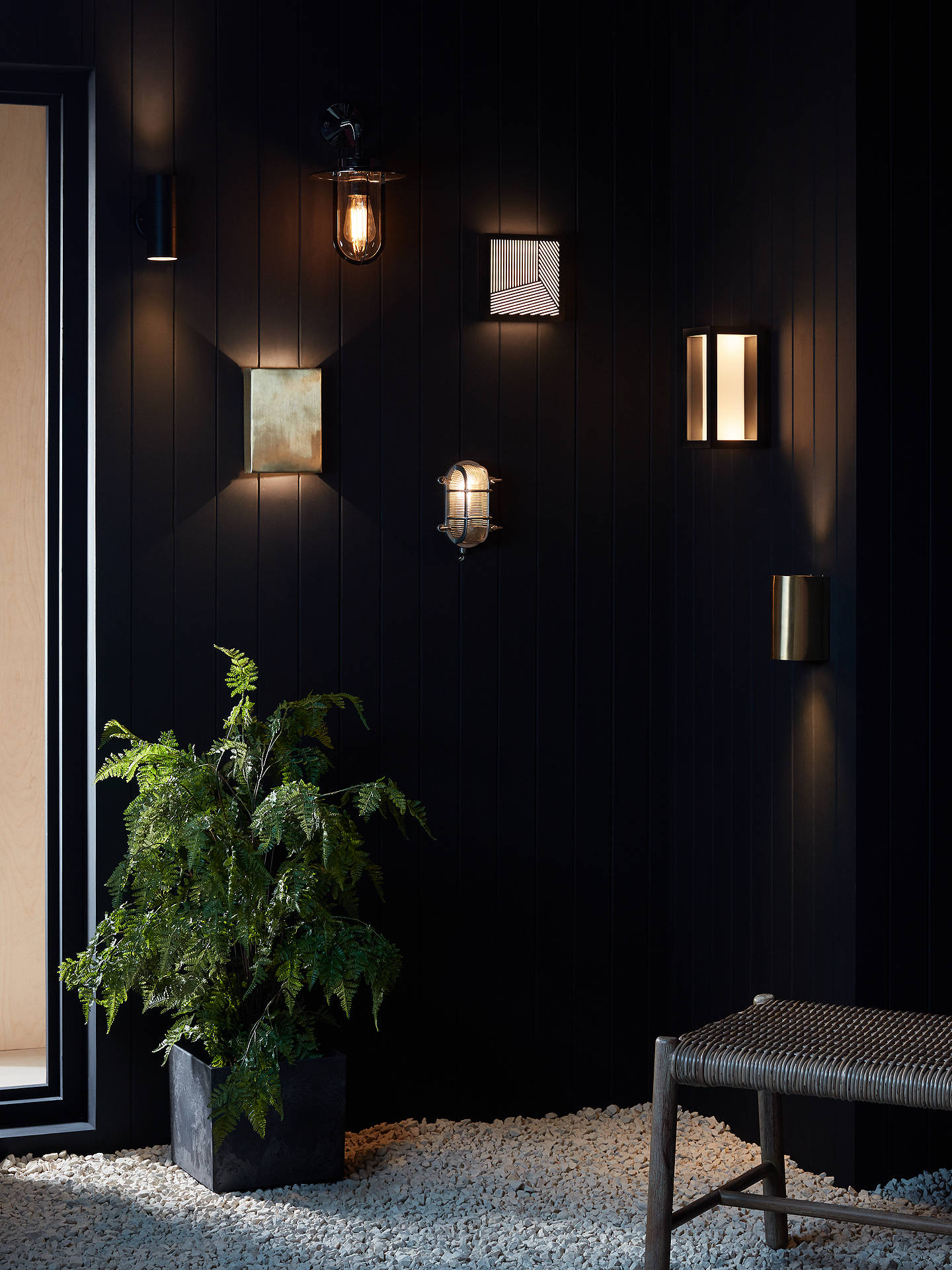 Buy John Lewis & Partners Olbia LED Outdoor Wall Light, Charcoal Online at johnlewis.com
