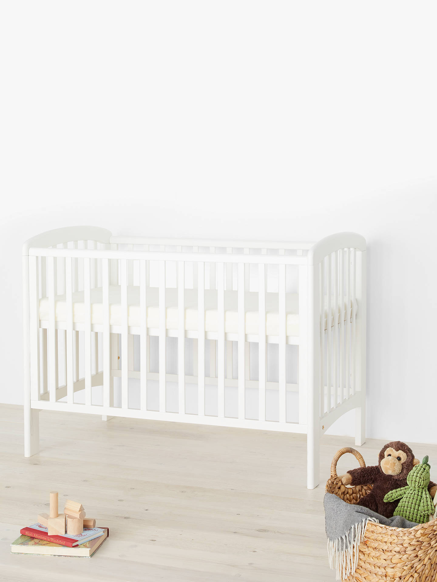Buy John Lewis & Partners Anna Dropside Cot, White Online at johnlewis.com