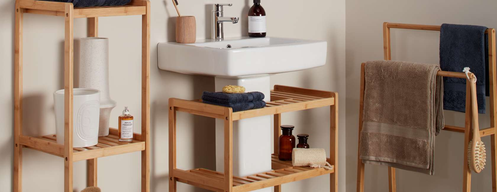 john lewis  partners bamboo bathroom furniture page at