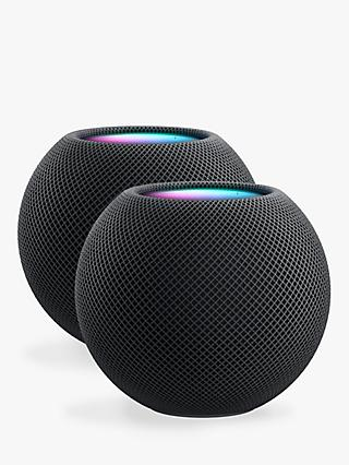 Apple HomePod mini Smart Speaker, Space Grey, 2 Pack (2 Speaker Bundle)