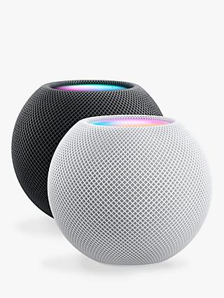 Apple HomePod mini Smart Speaker, 2 Pack, 1 x White, 1x Space Grey (2 Speaker Bundle)