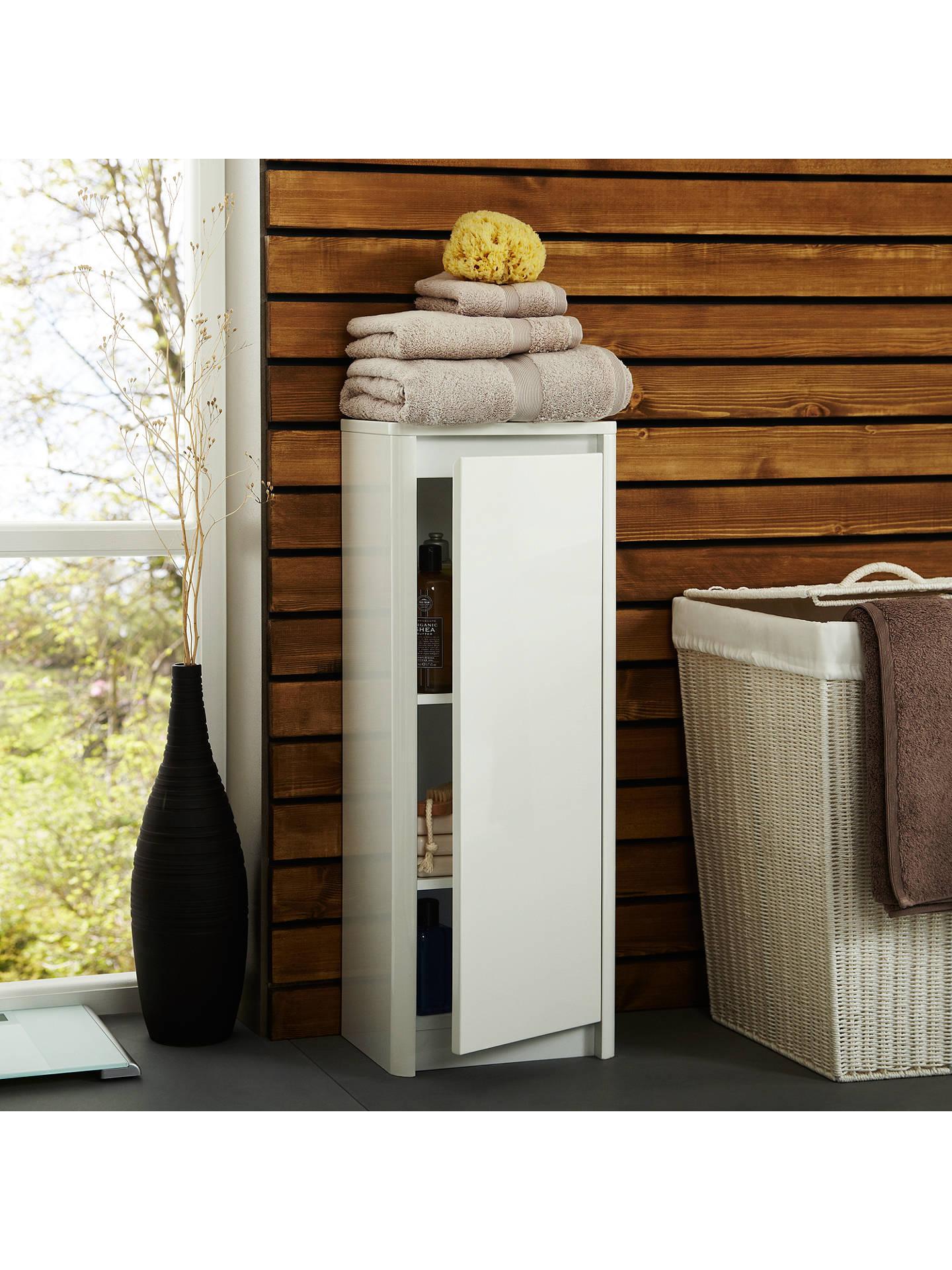 Buy John Lewis & Partners Gloss Curve Free Standing Bathroom Floor Cabinet Online at johnlewis.