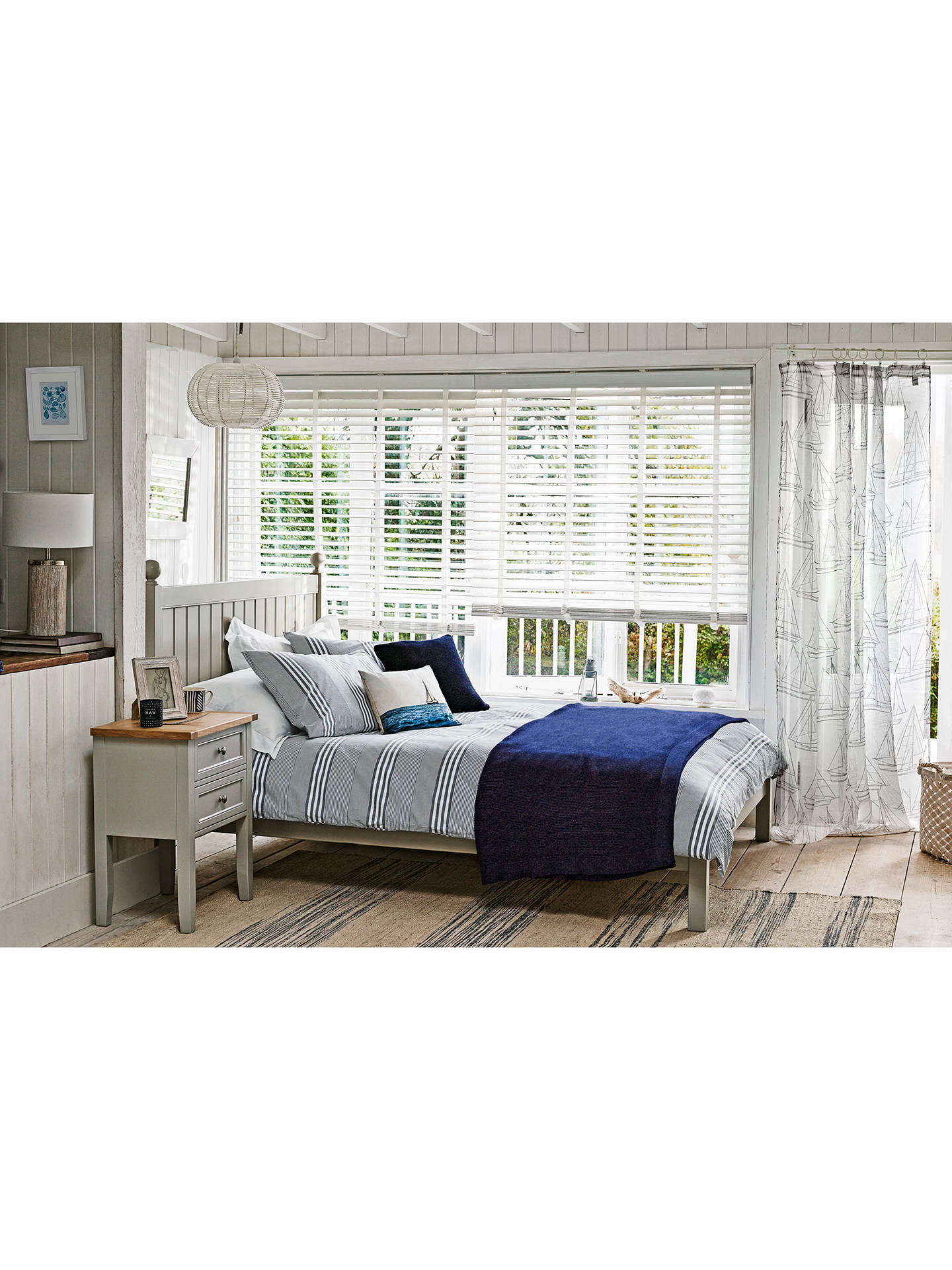 BuyJohn Lewis & Partners St Ives Bed Frame, FSC-Certified (Oak, Birch, Oak Veneer, MDF), King Size, Grey Online at johnlewis.com